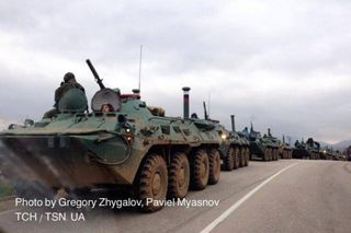 Russian troop carriers