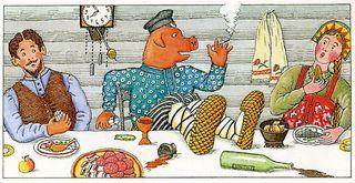 Pig at table287